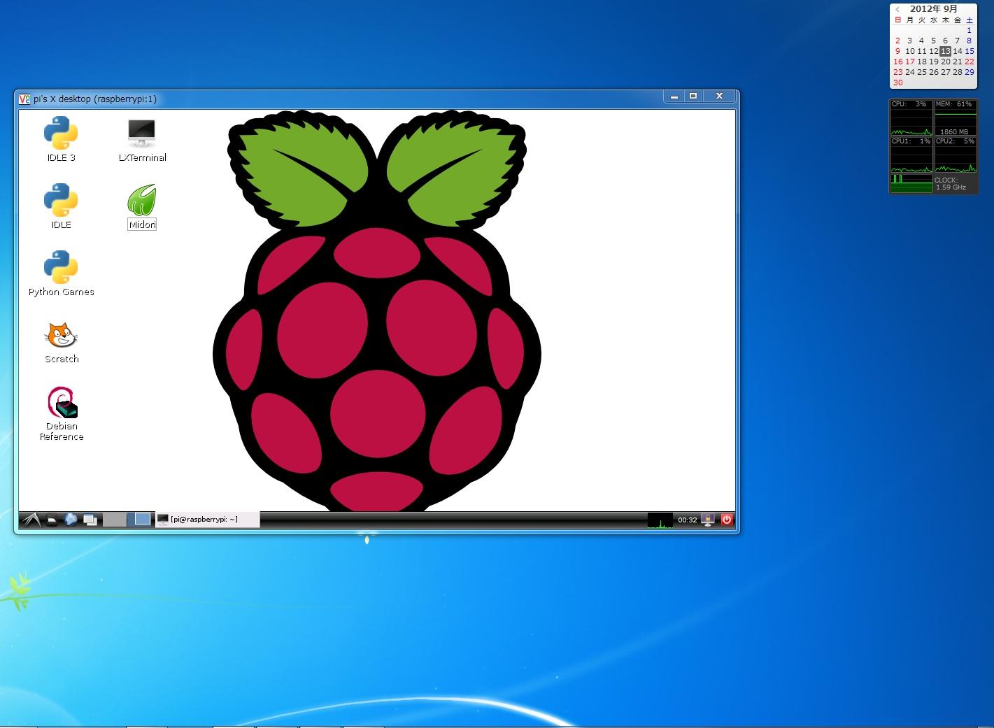 ラズベリーパイを使ってみる – VNCサーバを入れてディスプレイなしでもGUIで操作する-