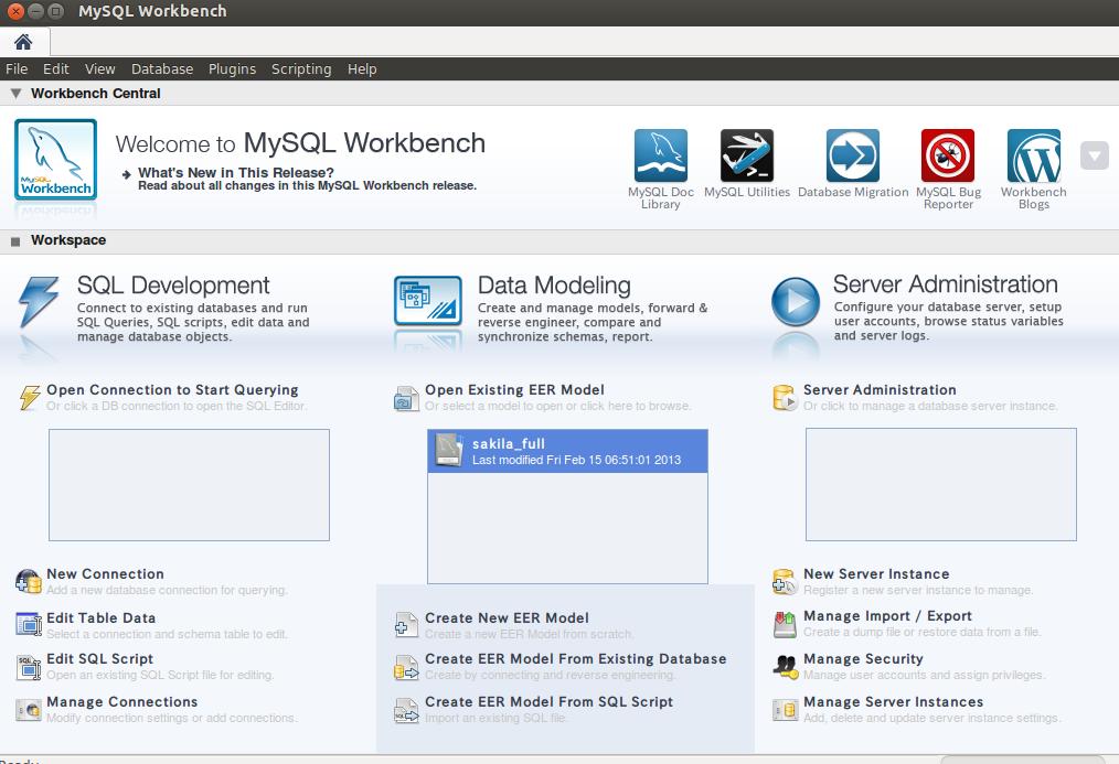 【Ubuntu】GUIでMYSQLを管理できる「MYSQL Workbench」