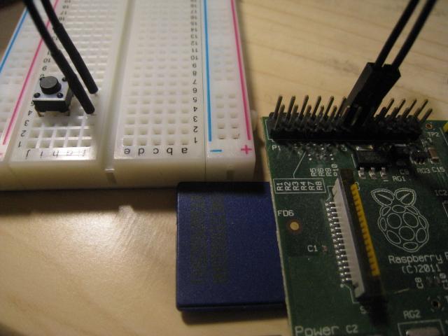 ラズベリーパイを使ってみる – GPIOでボタンを押したら電源を切る –
